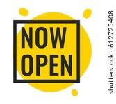 now open. vector illustration... | Shutterstock .eps vector #612725408