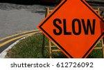 slow down red luminova banner...   Shutterstock . vector #612726092