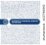 business and finance icon set... | Shutterstock .eps vector #612740342