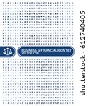 business and finance icon set... | Shutterstock .eps vector #612740405