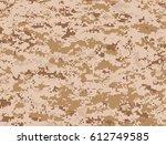 desert pixels camouflage  | Shutterstock .eps vector #612749585