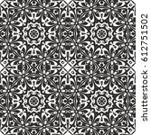seamless floral pattern motif... | Shutterstock .eps vector #612751502