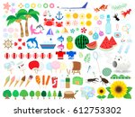 illustration of summer vacation ... | Shutterstock .eps vector #612753302