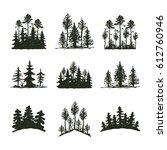 tree outdoor travel black... | Shutterstock .eps vector #612760946