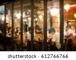 blur coffee shop or cafe... | Shutterstock . vector #612766766