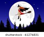 halloween illustration of a... | Shutterstock .eps vector #61276831