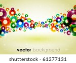 colorful shiny vector background | Shutterstock .eps vector #61277131