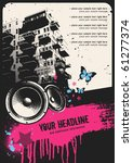 retro urban party flyer...   Shutterstock .eps vector #61277374