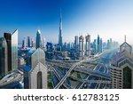 amazing dubai skyline at the...   Shutterstock . vector #612783125