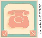 classic retro phone   Shutterstock .eps vector #612788336