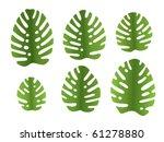 6 different vector leaves of... | Shutterstock .eps vector #61278880