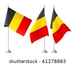 belgium vector flags with a... | Shutterstock .eps vector #61278883