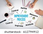 improvement process concept.... | Shutterstock . vector #612794912