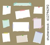 set of various torn papers  ... | Shutterstock .eps vector #612796292