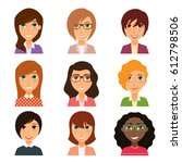 collection of avatars of... | Shutterstock .eps vector #612798506