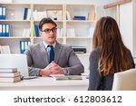 business meeting between... | Shutterstock . vector #612803612