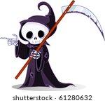 cute cartoon grim reaper with... | Shutterstock .eps vector #61280632