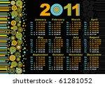 black calendar 2010   Shutterstock .eps vector #61281052