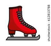 ice skate isolated icon | Shutterstock .eps vector #612813788