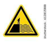 deep water warning sign  symbol ... | Shutterstock .eps vector #612815888