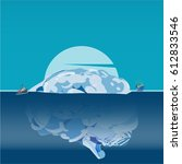 human brain as iceberg  brain's ... | Shutterstock .eps vector #612833546