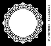 lace round paper doily  lacy... | Shutterstock .eps vector #612833816