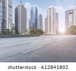 road surface and shanghai... | Shutterstock . vector #612841802