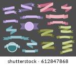 set of light colored vintage... | Shutterstock .eps vector #612847868