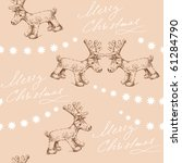 seamless christmas pattern | Shutterstock .eps vector #61284790