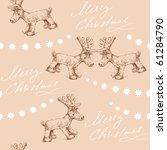 seamless christmas pattern | Shutterstock .eps vector #61284790