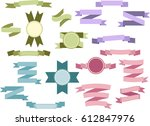 set of light colored vintage... | Shutterstock .eps vector #612847976