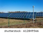 photovoltaic power plant in the ... | Shutterstock . vector #612849566
