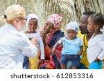 female caucasian doctor... | Shutterstock . vector #612853316