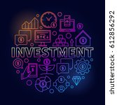 financial investment colorful... | Shutterstock .eps vector #612856292
