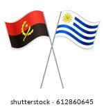 angolan and uruguayan crossed... | Shutterstock .eps vector #612860645