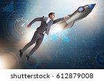 businessman in start up... | Shutterstock . vector #612879008