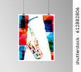 colorful saxophone vector... | Shutterstock .eps vector #612882806