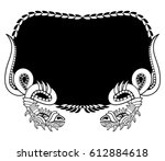 snake frame. coloring book and...   Shutterstock .eps vector #612884618