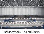 3d rendering empty conveyor...   Shutterstock . vector #612886046