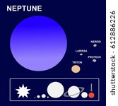 neptune  the eighth planet of... | Shutterstock . vector #612886226
