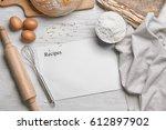 Bread Recipe Concept. Sheet Of...