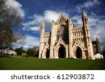 st albans cathedral on sunny day | Shutterstock . vector #612903872