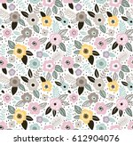vector seamless pattern. cute... | Shutterstock .eps vector #612904076