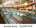 automated warehouse. boxes with ... | Shutterstock . vector #612907655