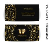 vip invitation card. party...   Shutterstock . vector #612907766