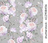 seamless pattern with pink... | Shutterstock . vector #612908456
