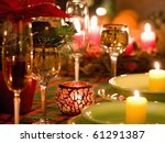 beautiful place setting for... | Shutterstock . vector #61291387