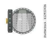 vault safe deposit bank | Shutterstock .eps vector #612922436