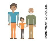 portrait people family happiness | Shutterstock .eps vector #612928136