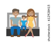 happy family love members... | Shutterstock .eps vector #612928415